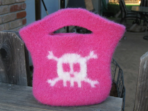 Mini Skull and Crossbones Tote After | by ja.knit