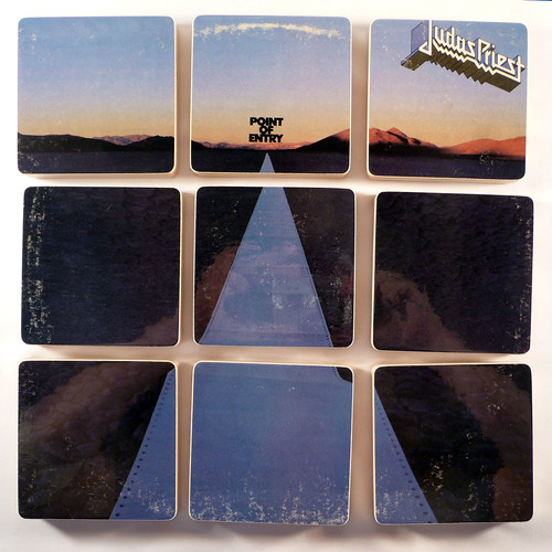 Judas Priest, Point of Entry Album Cover Coasters | by McCoyCreations