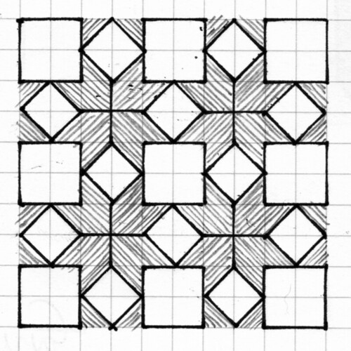Geometric Pattern 3 3 Adding Some Hatching In Graphite