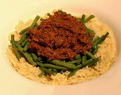 Beef Rendang with Long Green Beans and Nasi Kuning | by FotoosVanRobin
