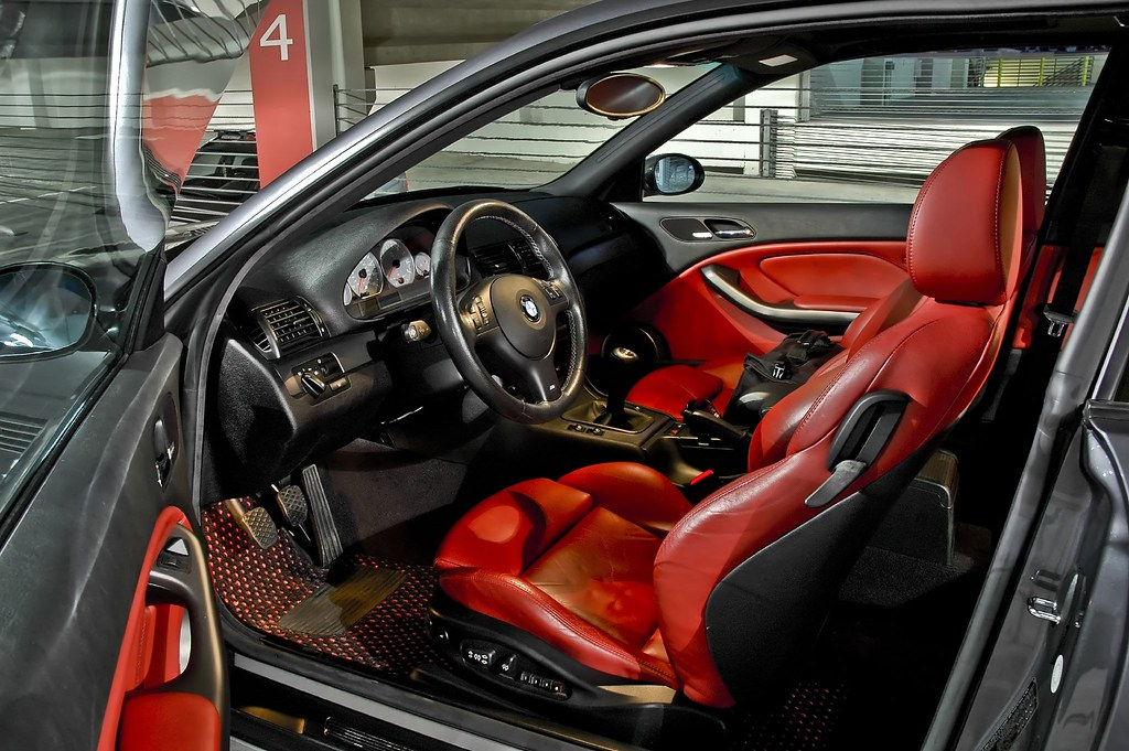 2002 Bmw M3 With Imola Red Interior Shot With Nikon D70