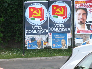 """Vote Communist"" poster in Rome 