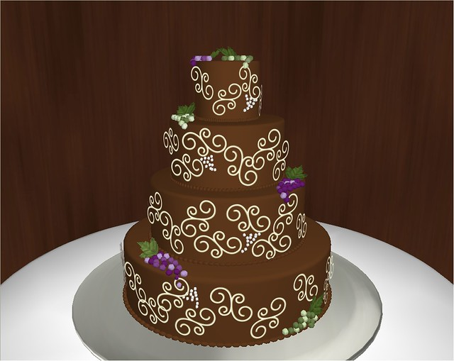 build a virtual wedding cake carone cake chocolate with ivory decoration flickr 12210