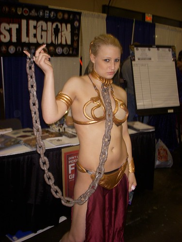 Princess Leia - Slave Outfit | This is my number. I'll call ...: http://www.flickr.com/photos/excalipoor/2432749072/