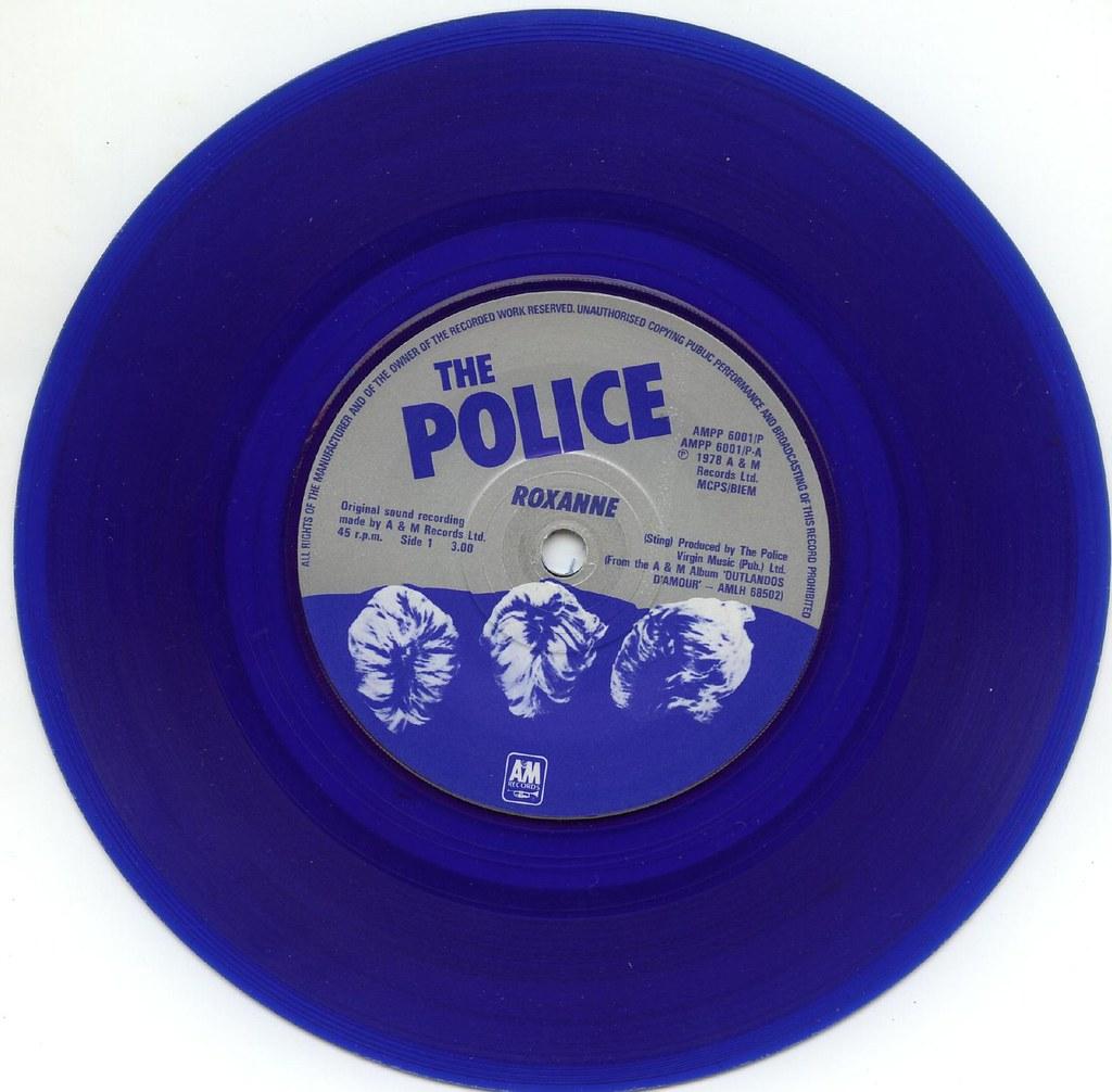 The Police Roxanne 45 Rpm Single On Blue Vinyl Steve