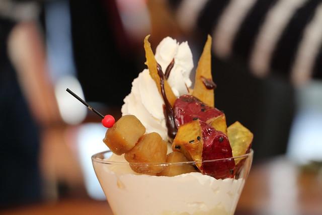 茨城マルシェ お芋  サツマイモ 干し芋 いばらキッスのパフェ