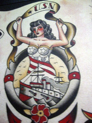Vintage tattoo flash art