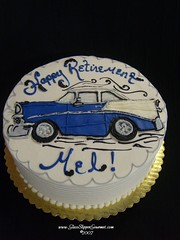 Classic Chevy (buttercream drawing) | by Glass Slipper Gourmet