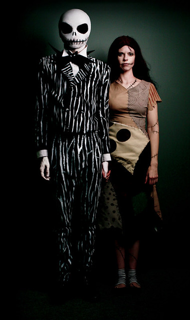 jack and sally from the nightmare before christmas halloween costumes inspired by tim burton by - Nightmare Before Christmas Halloween Costume