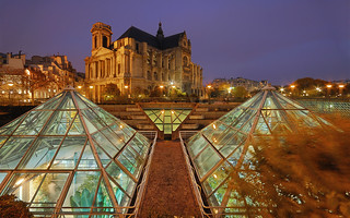The Pyramids of the the Forum des Halles | by David Giral | davidgiralphoto.com