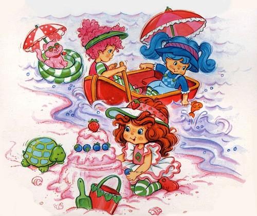Charlotte aux fraises et ses amies la mer illustration - Charlotte aux fraises et ses copines ...