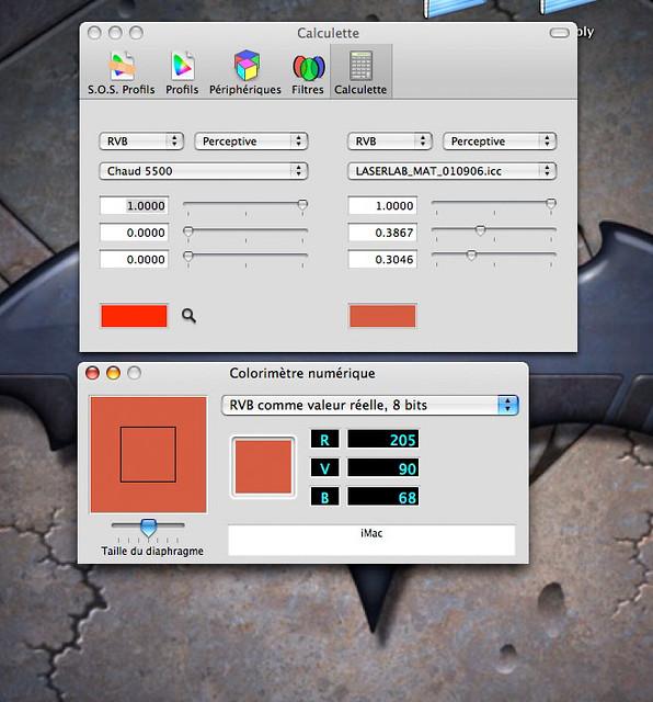 laserlab comparaison d 39 une couleur entre le profil cran e flickr. Black Bedroom Furniture Sets. Home Design Ideas
