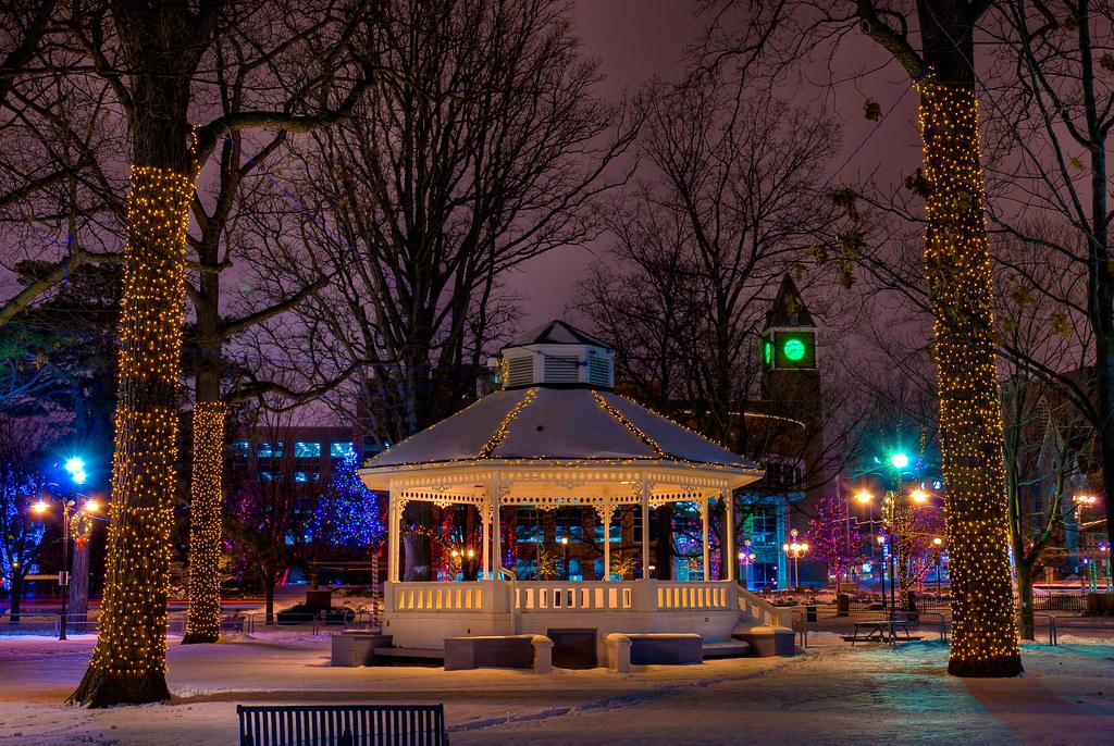 Gage Park Christmas Lights Lights Strung Up Around City