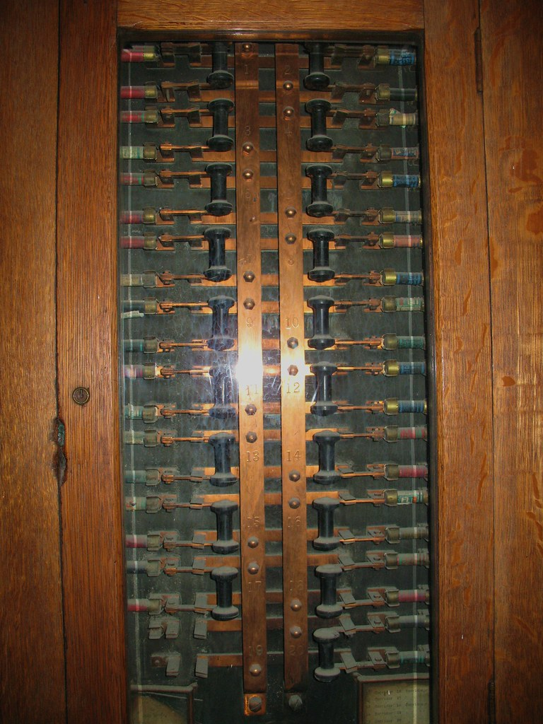 Old Post Office Fuse Box Dusty Old Possibly Original