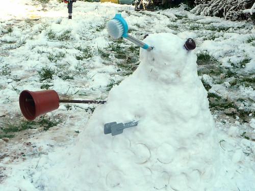 Snow dalek the wrong kind of for regular snowmen