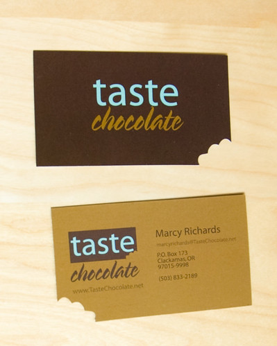 Taste Chocolate business card | by couldbe studios