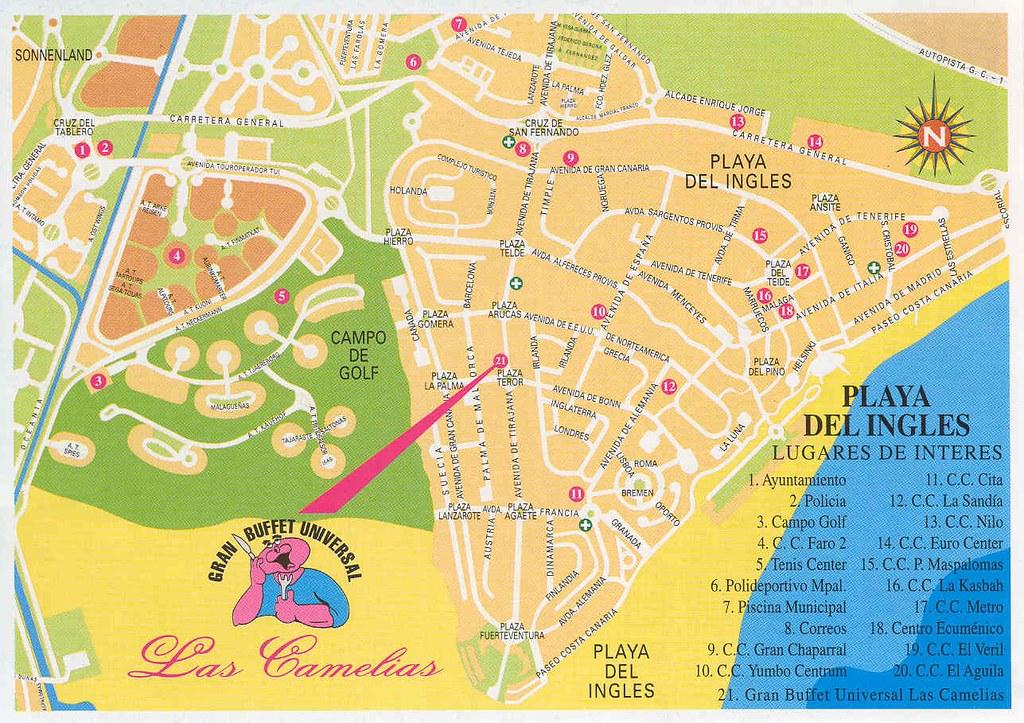 Playa Del Ingles Stadtplan Hotels