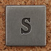 Pewter Lowercase Letter s