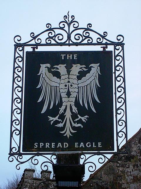 092. The Spread Eagle inn sign close up!