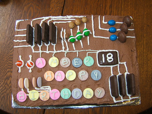 18th Birthday Cake For Graphic Designer Rosalba Flickr