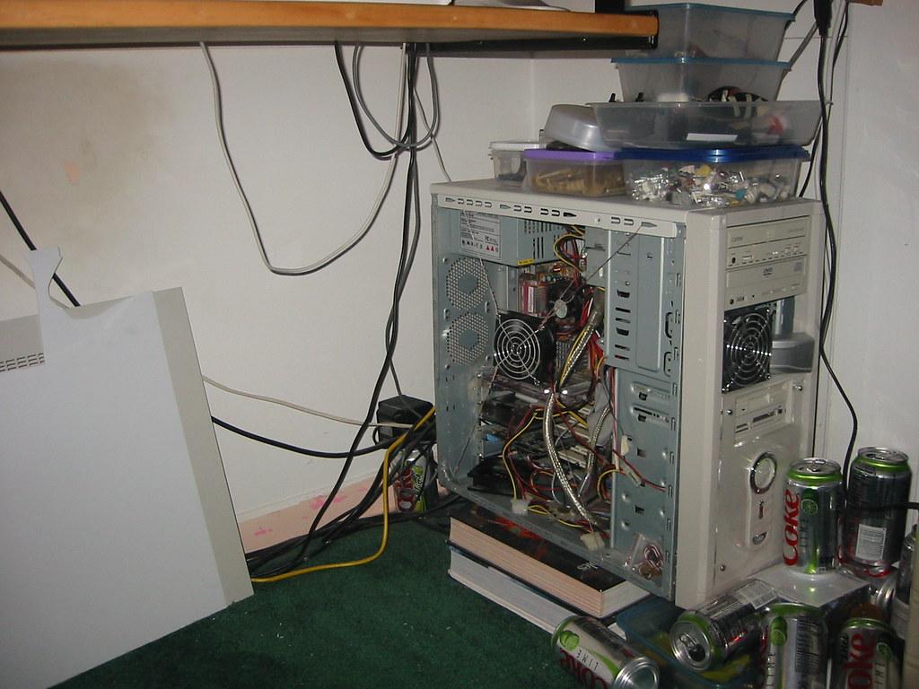 My Pc Under Desk In Closet Case Side I Flickr Wiring Mess By Jpl3k Jipple28