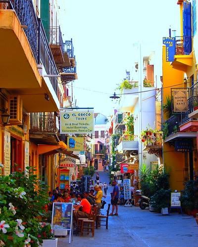 Theotokopoulou Street In Chania On The Greek Island Of Cre