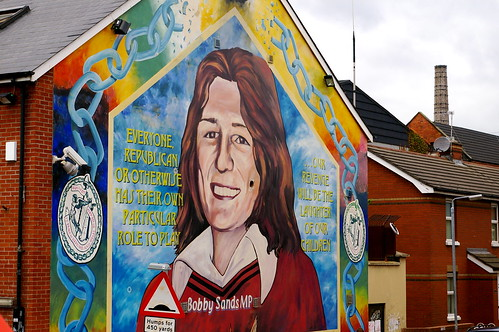 Bobby sands mural one of belfast 39 s famous political for Bobby sands mural