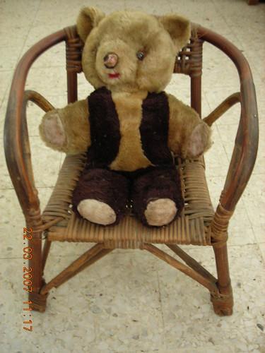 Teddy Bear Sitting On Rattan Chair Su Xuan Chan Flickr