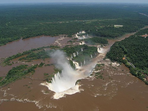 over Iguazu Falls | by roaming-the-planet
