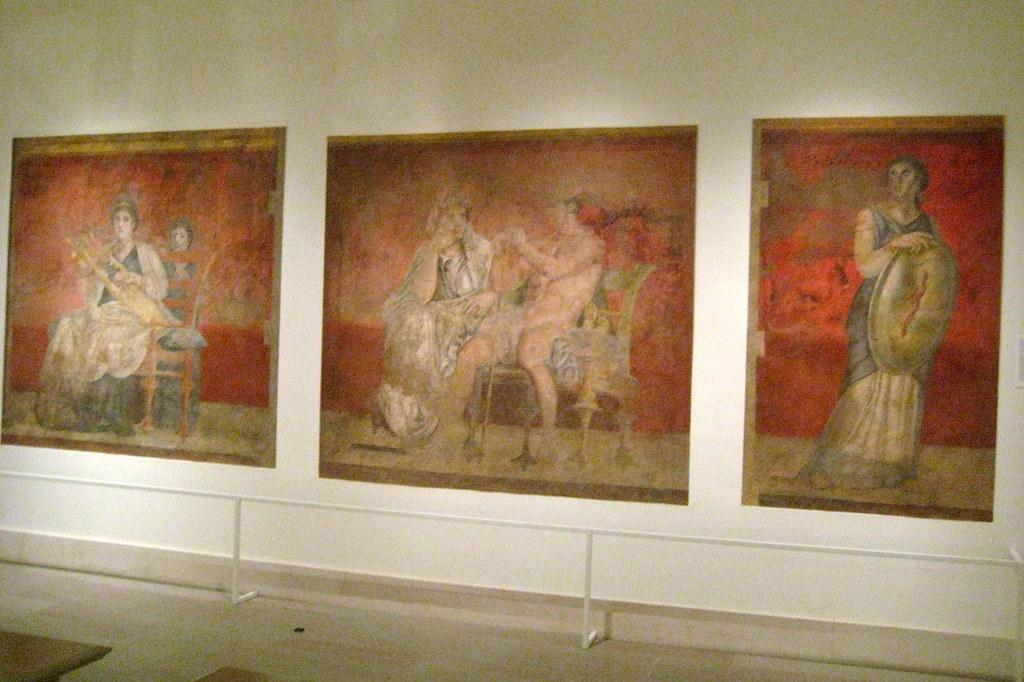 Nyc Metropolitan Museum Of Art Three Wall Paintings Fr