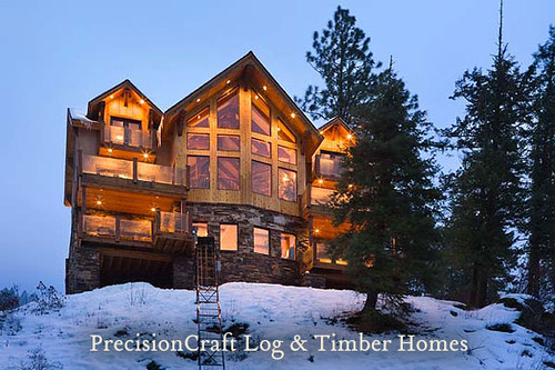 Custom Timber Frame Home Design Located In Idaho By Pr