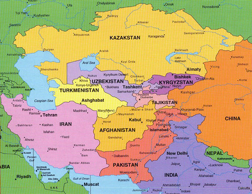 asia and middle east and eastern europe map by wwwluqman technologies