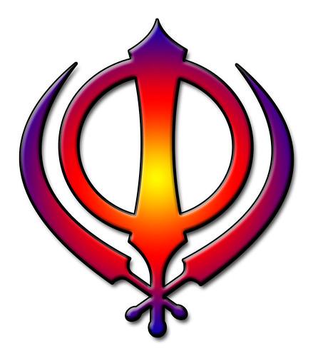 Sikh Symbol Multicoloured Khanda The Insignia Of The Kha Flickr