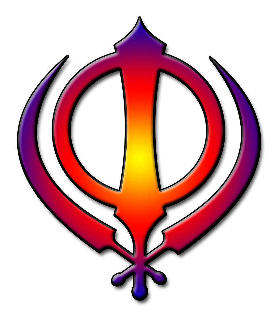 sikh symbol multicoloured khanda the insignia of the
