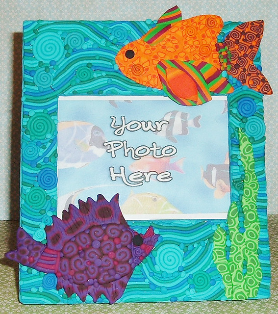 Fish frame one one of a kind photo frame created with for Fish photo frame