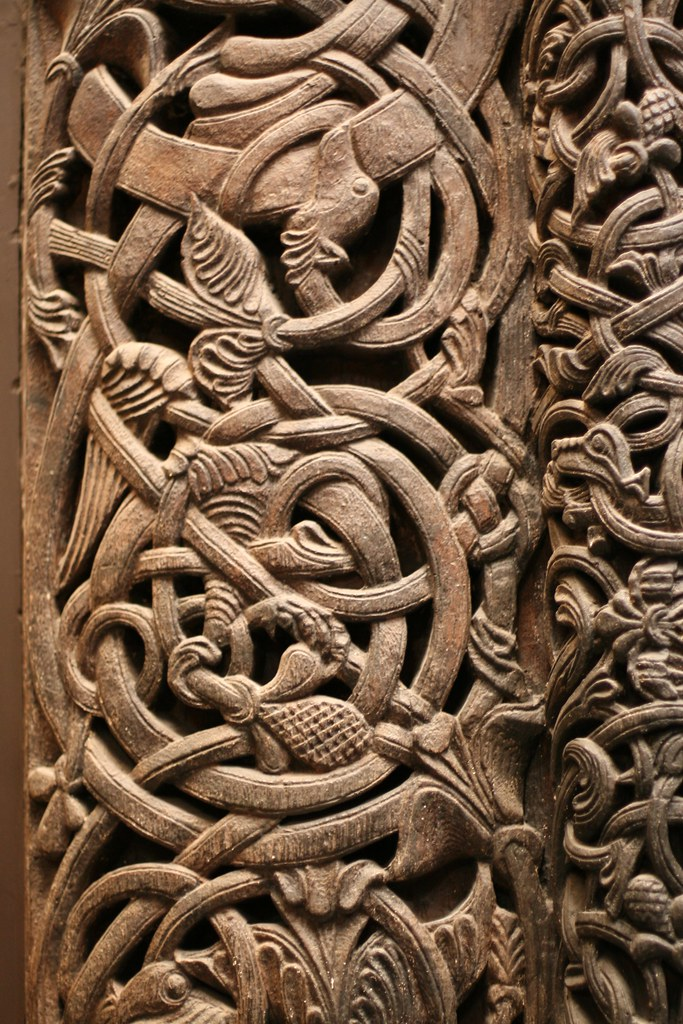 Norwegian carved door detail i was fascinated by how