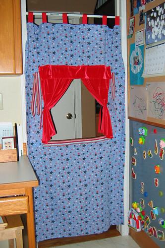 doorway puppet theater...