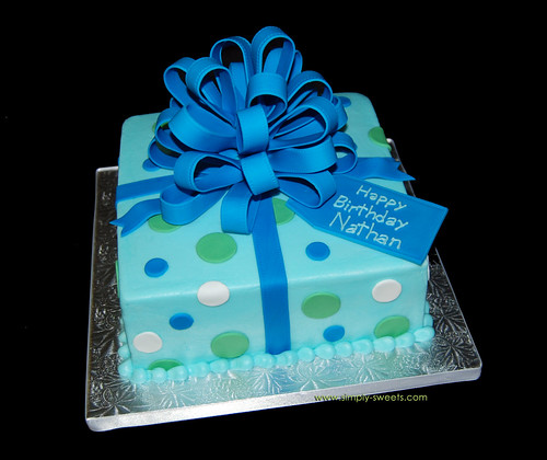 blue birthday cake blue package birthday cake read more about our creations 1922