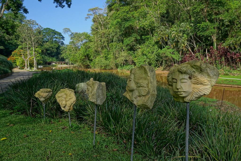 ... Carved Stone Faces In The Garden Art   By KarlGercens.com GARDEN  LECTURES