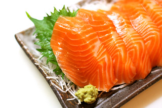 sashimi: salmon trout (from Chile) | by [puamelia]