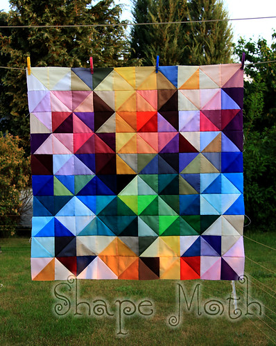 'Shattered rainbow' quilt top (1) | by ShapeMoth