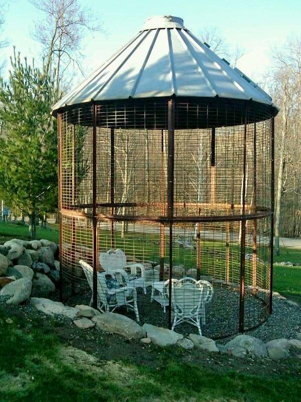 21 nearing construction end on easter corn crib gazebo for Gazebo chicken coop