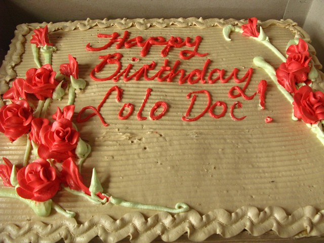 Happy Birthday Lolo Doc He Would Have Loved This Cake Fro Flickr