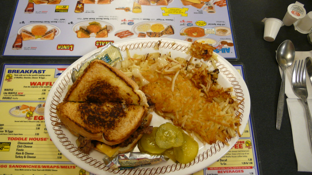 Waffle house double texas cheesesteak plate my for Waffle house classic jukebox favorites
