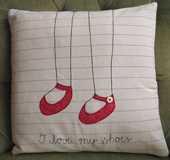 I love my shoes cushion cover | by syko Kajsa