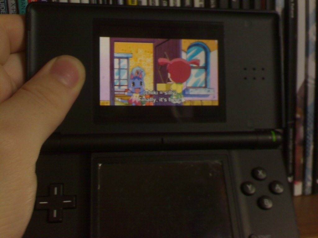 my new ds lite watching the animal crossing movie pyrii flickr. Black Bedroom Furniture Sets. Home Design Ideas