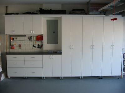 Superieur ... Updatedinteriors White Melamine Garage Cabinets | By Updatedinteriors