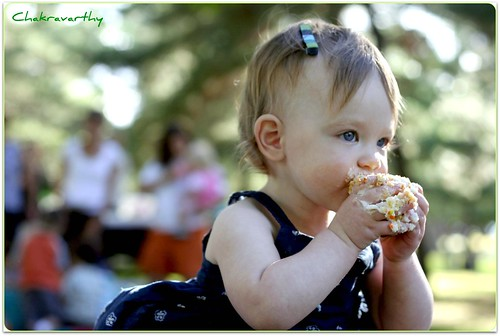 Ella learning to eat | by Cha...