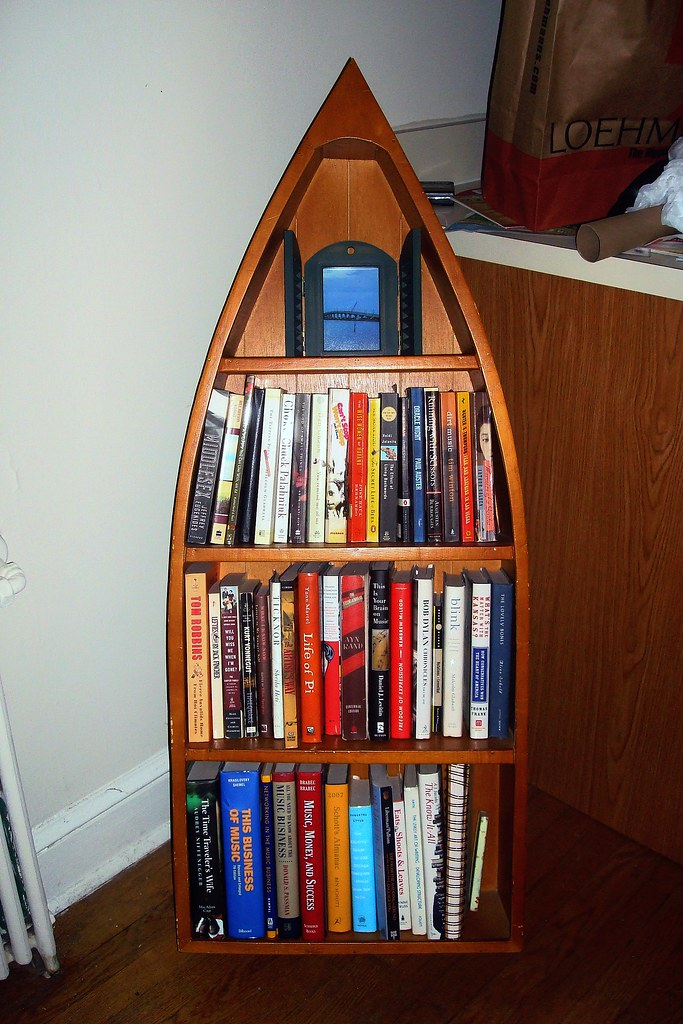 Canoe Shaped Bookcase! | Purchased on Craigslist this ...