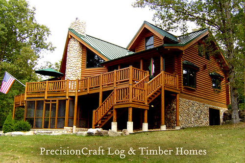 Missouri Log Home Custom Log Home Design Precisioncraf
